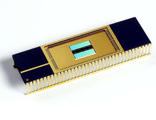 Un circuit prototype de PRam de Samsung. © Samsung