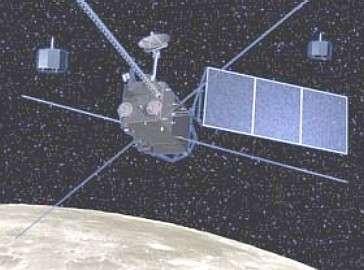 La sonde japonaise selene-1, accompagnée de ses deux sous-satellites.