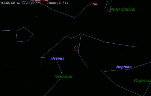 Maximum de l'essaim des météores des delta-Aquarides nord