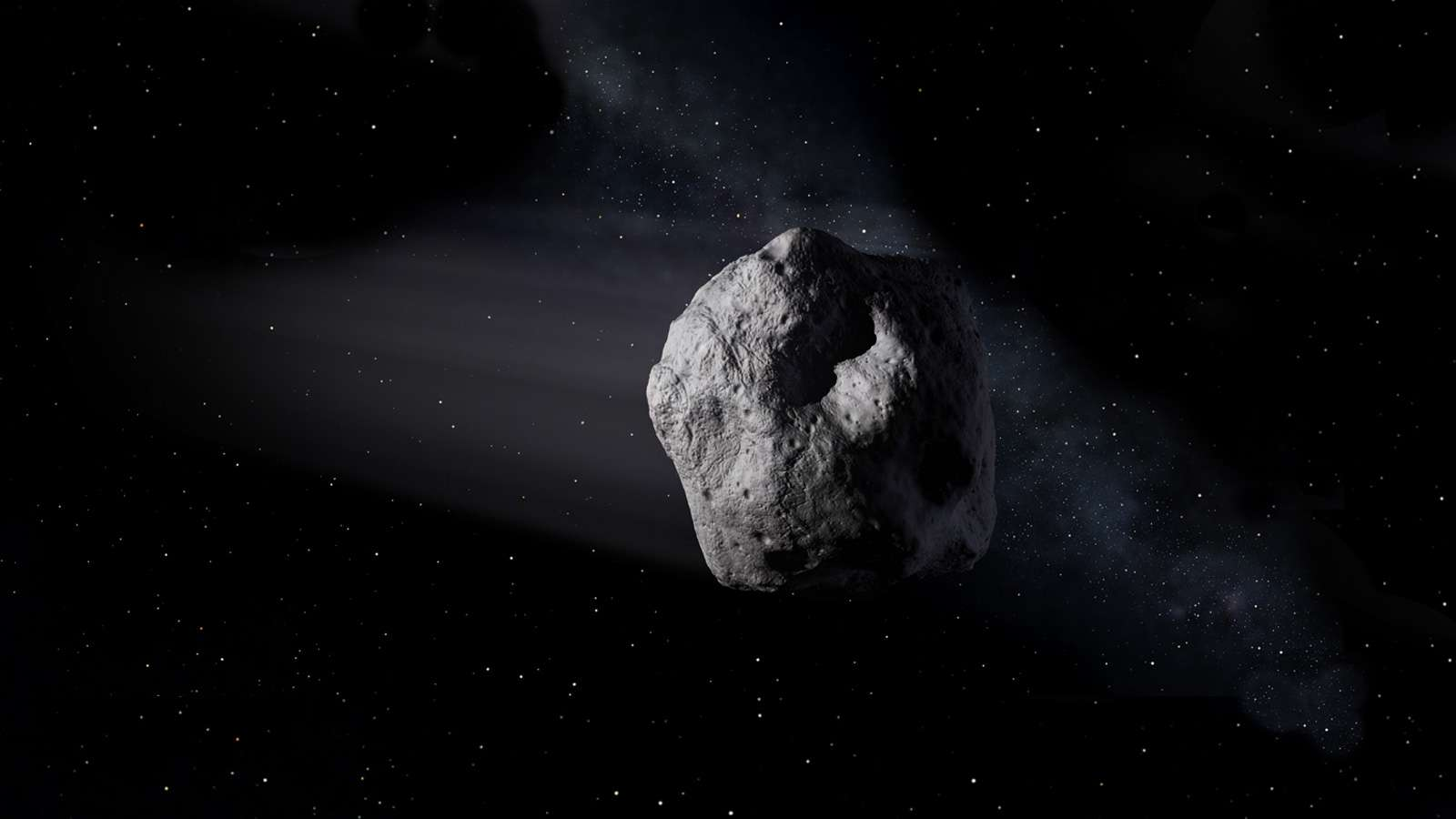 Illustration d'un astéroïde géocroiseur. © Nasa, JPL-Caltech