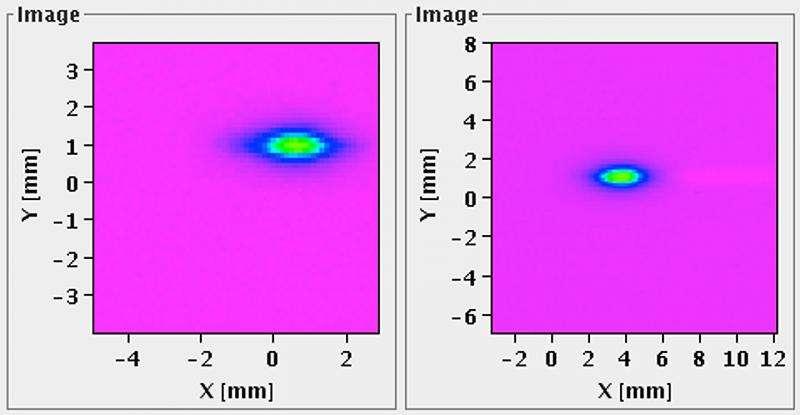 Comme le montrent ces images, des faisceaux de protons larges de quelques millimètres ont bien circulé dans les lignes d'injection qui permettent leur entrée dans le LHC. © Cern