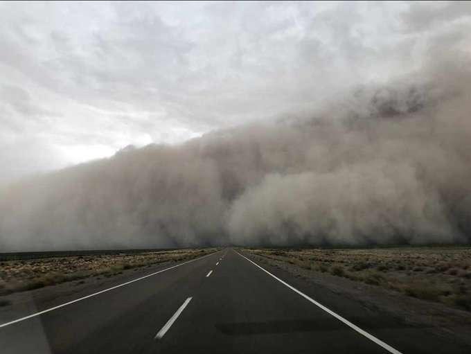Une tempête de sable a englouti plusieurs villes de la province de Chubut en Argentine. © LaOtraFenix, Twitter