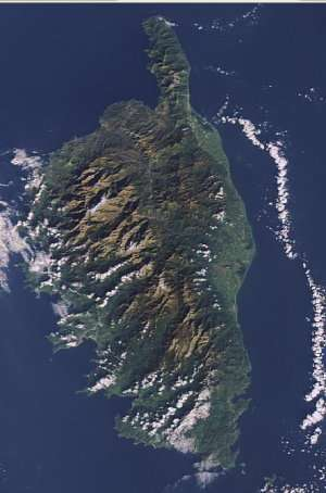 La Corse vue par le satellite Envisat