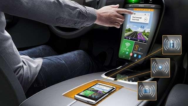 La détection des doigts sur la surface d'un écran est possible, sans contact, avec une grille de rayons infrarouges. La précision est plus faible que celle d'un écran tactile mais la technique est moins onéreuse. © Continental