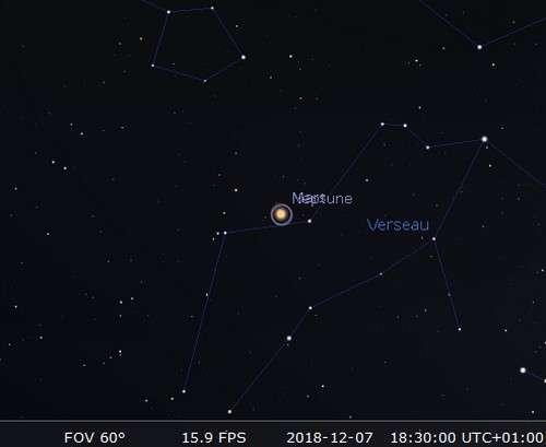 Mars en rapprochement avec Neptune