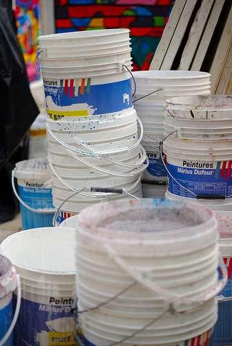 La peinture au tampon permet de donner un effet à n'importe quelle penture. © Frédéric Bisson, Flickr, CC BY 2.0