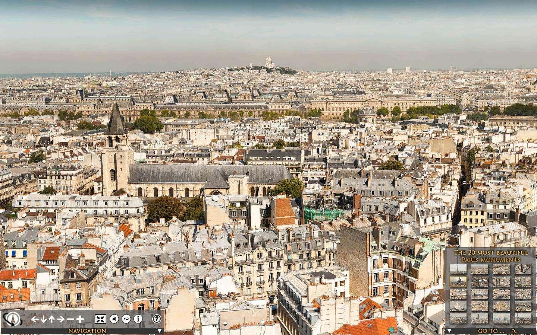 Les 2.346 photos du panoramique Paris 26Gigapixels ont été prises depuis une tour de l'église Saint-Sulpice. © DR