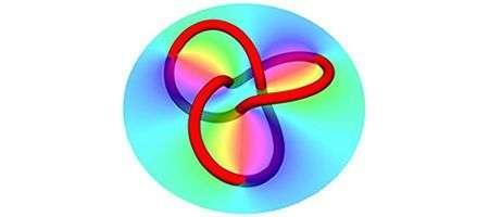 La forme que peut prendre un anneau d'obscurité, appelé encore un vortex optique. Crédit : Nature