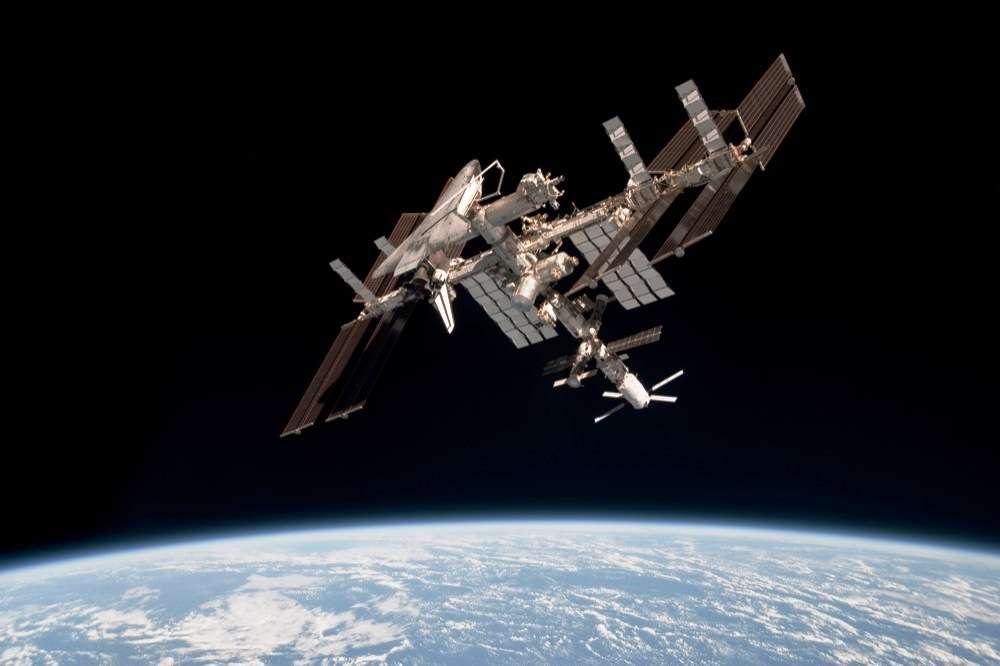 Une vue de l'ISS lors de la mission d'installation d'AMS-02. © Nasa