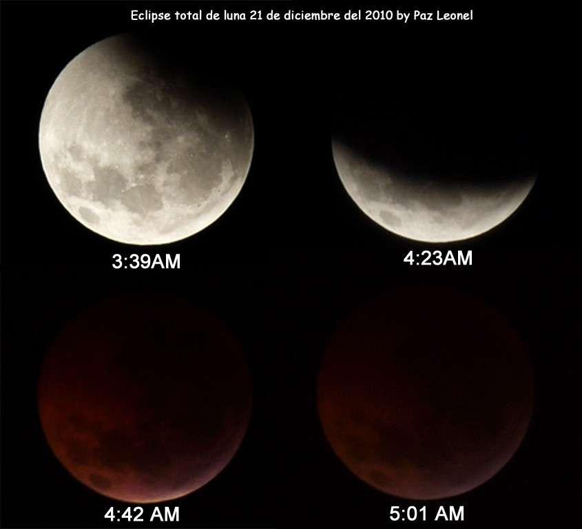 L'éclipse de Lune du 21 décembre 2010. © Paz Leonel