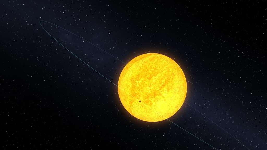 Une vue d'artiste de Kepler 10b en orbite autour de son étoile. © Nasa/Kepler Mission/Dana Berry