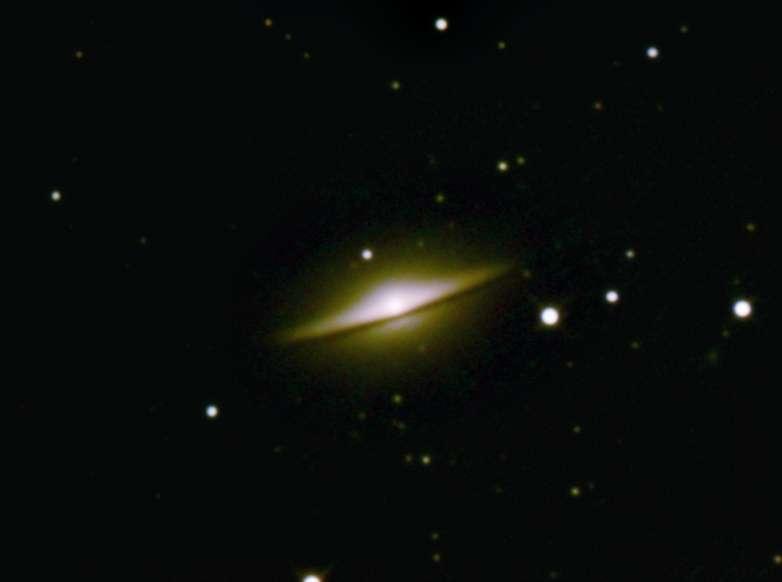 """Image réalisée par """"Chamois"""" (son pseudo sur le forum astro de Futura-Sciences), une heure de pose avec un webcam derrière un télescope de 20 cm."""
