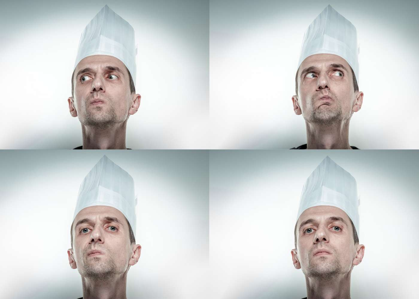 Un GIF animé permet de stocker plusieurs images dans un même fichier. Ces quatre images statiques pourraient par exemple être regroupées et l'homme apparaîtrait alors en mouvement. © Stone36, Shutterstock