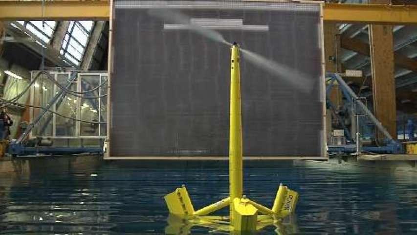 L'éolienne flottante Winflo testée en bassin