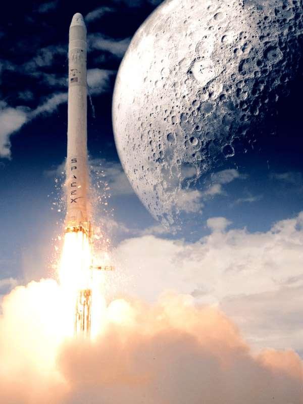 Le lanceur lourd de SpaceX a été choisi par Astrobotic Technology pour lancer un petit rover vers la Lune, réalisé dans le cadre du Google Lunar X Prize. Le lancement est prévu en 2013. © Astrobotic Technology