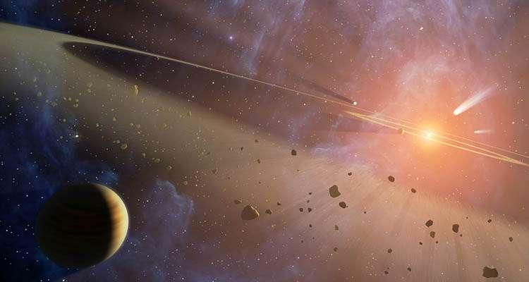 Une vue d'artiste du système d'Epsilon Eridani. Crédit : Nasa/JPL-Caltech