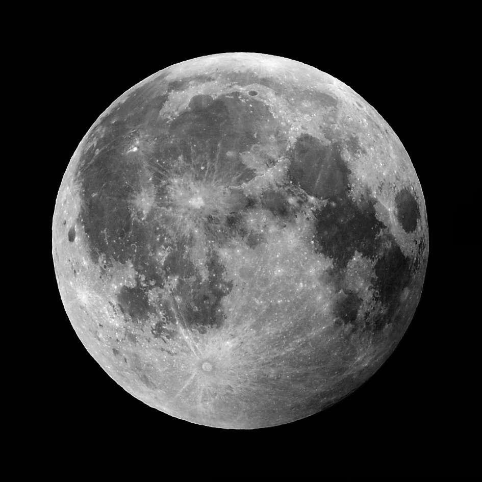 La Lune, avec diamètre de 3.474 km, est le cinquième plus grand satellite naturel du Système solaire. Elle se trouve à une distance moyenne de 384.400 km de notre planète. © penguinbush, Flickr, CC by-nc-nd 2.0