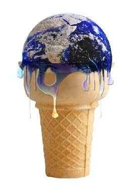 Réchauffement climatique. Source Commons