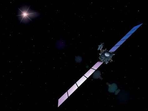La sonde Rosetta (vue d'artiste). Crédit Esa