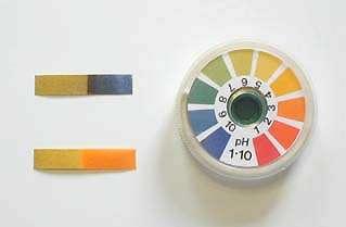 Le papier tournesol est l'un des nombreux indicateurs de PH d'une solution. © DR