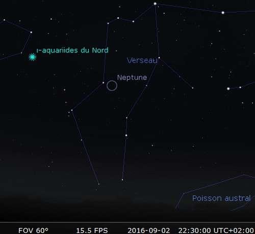 La planète Neptune est en opposition. © Futura-Sciences