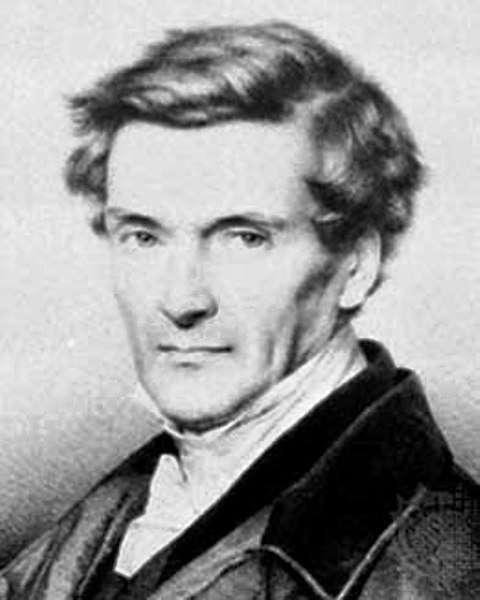 Gustave Gaspard de Coriolis (1792-1843) est un mathématicien et ingénieur français. On le connaît surtout pour les découvertes de l'accélération de Coriolis et de la force de Coriolis. Elles affectent le mouvement des corps dans un milieu en rotation, par exemple les vents dans l'atmosphère de la Terre ou les courants dans les océans. © Archives de l'École polytechnique, DP