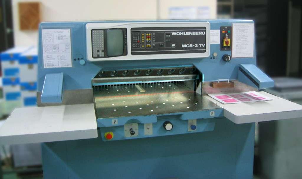 Le massicot se retrouve généralement dans les imprimeries. © DR, Libre de droit, Wikimedia Commons