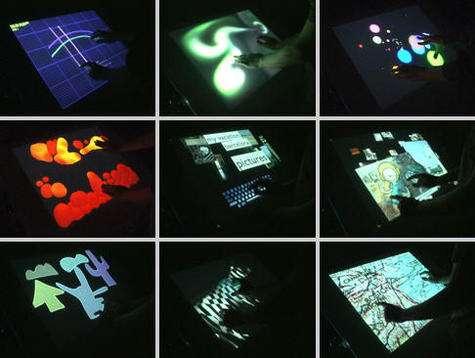 Extraits de la vidéo de démonstration de cet écran tactile.(crédit : Multi-Touch Interaction Research / © 2006, Jeff Han)