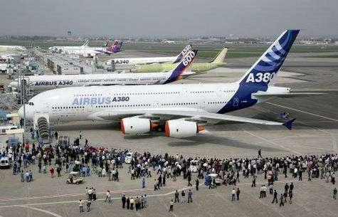 L'Airbus A380 au Salon du Bourget en 2005.