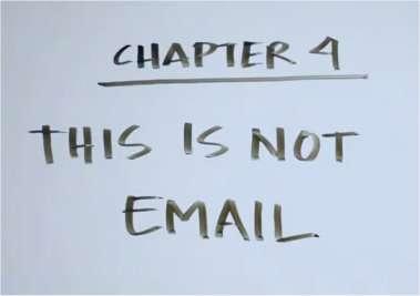 « Ce n'est pas une messagerie ! » clame la vidéo d'explication de la nouvelle messagerie de Facebook. © Facebook