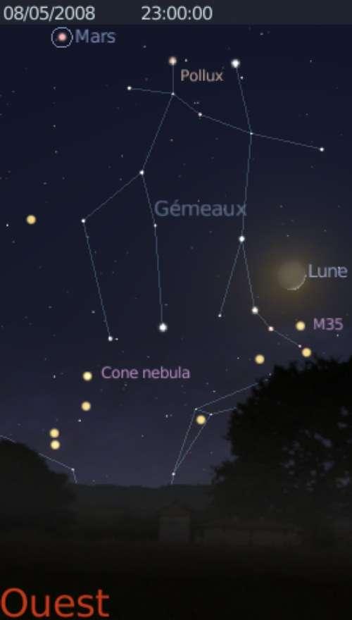 La Lune est en rapprochement avec l'amas d'étoile M35
