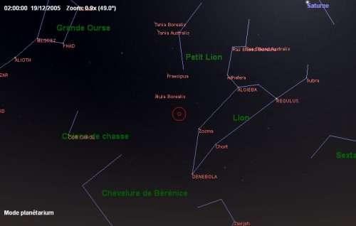 Maximum de l'essaim des météores des Coma Bérénicides