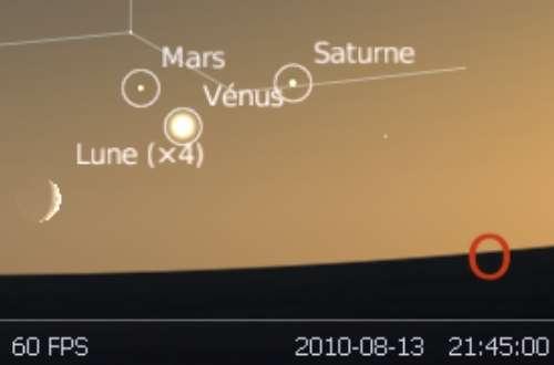 La Lune est en rapprochement avec les planètes Mars, Vénus et Saturne