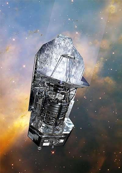 Le satellite Herschel (vue d'artiste). Crédit Cnes