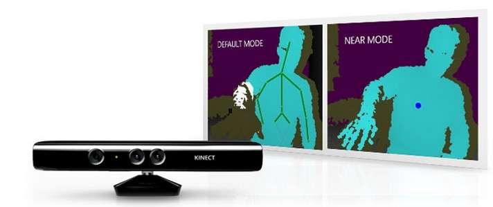 Sur le nouveau kit de développement Kinect, le système de représentation virtuelle du squelette a été perfectionné pour reconnaître des postures plus complexes. © Microsoft