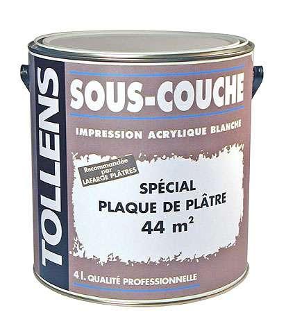 Sous-couche spécial plaque de plâtre, crédits DR.
