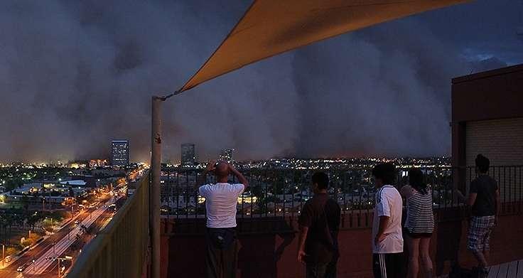Le 5 juillet 2011, Phoenix a connu le plus gros haboob (une violente tempête de sable) jamais subi depuis 100 ans. © Christopher Marks, Flickr, cc by nc nd 2.0