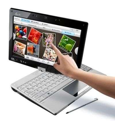 L'Asus Eee PC Touchsreen, un des netbooks grâce auxquels on pourra faire ses courses dans l'AppUp. © DR