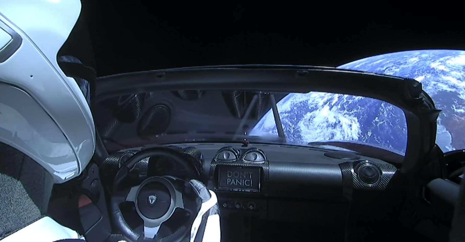 Après être passé au plus près de Mars, le Starman se rapproche de la Terre. © Kevin Baird, Flickr, CC by-NC-ND-2.0