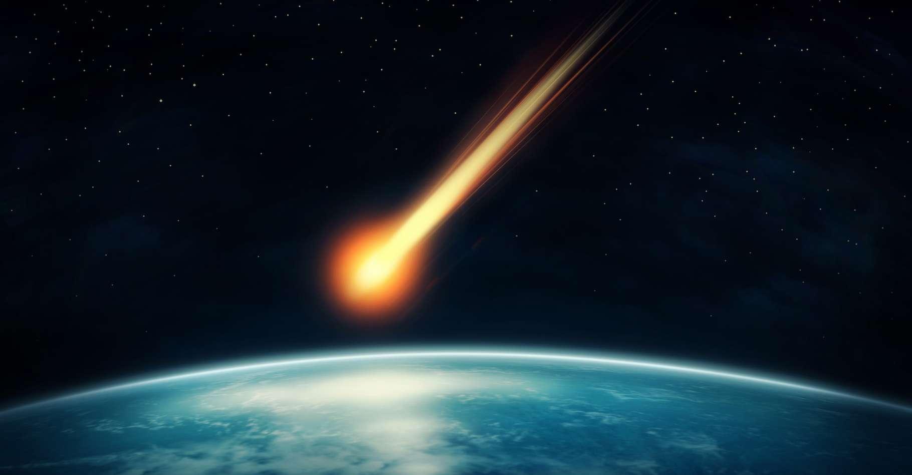 Un météoroïde d'origine inconnue a récemment ricoché sur l'atmosphère de la Terre. © Elena Schweitzer, Adobe Stock