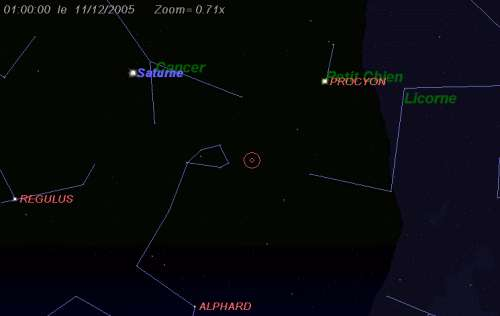 Maximum de l'essaim des météores des sigma-Hydrides