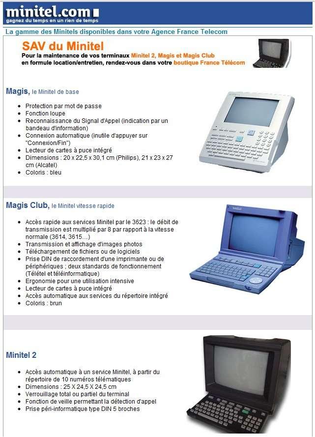 La dernière gamme de Minitel... Ils n'étaient donc pas tous marron et ont même connu les écrans plats, grâce à Matra et à son Minitel 5 portable. © Minitel.com