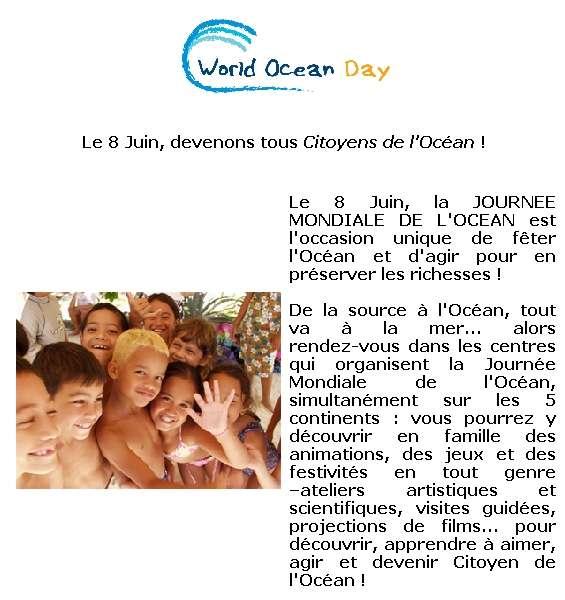 Devenir Citoyen de l'Océan : c'est possible le 8 juin… Crédit : World Ocean Network