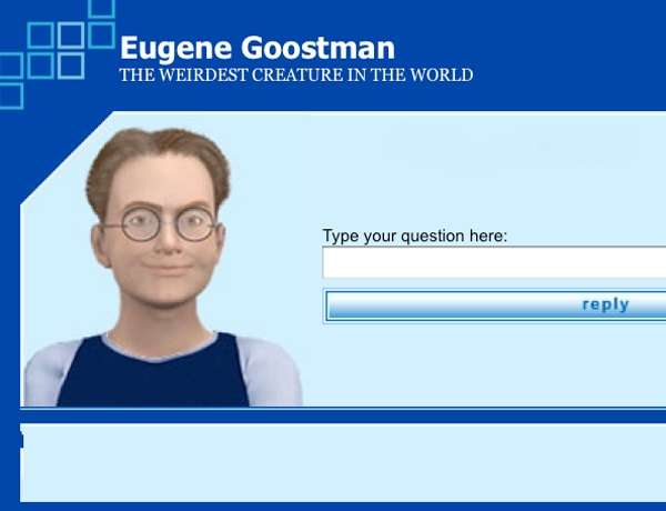 Voilà à quoi ressemble le site où l'on peut interroger en ligne une version d'Eugene Goostman, le chatbot qui aurait réussi à passer le test de Turing en trompant des être humains sur sa vraie nature. On ne sait pas encore si une version plus évoluée a été utilisée lors du test conduit à la Royal Society. © copie d'écran du site d'Eugene Goostman