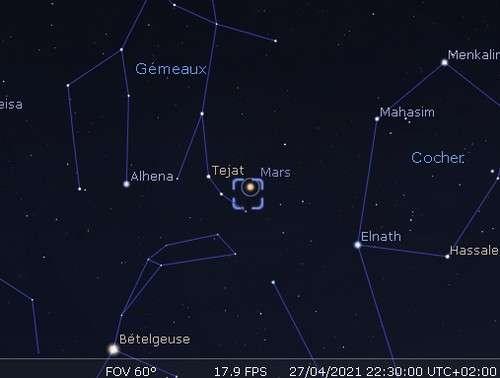 Mars en rapprochement avec M35