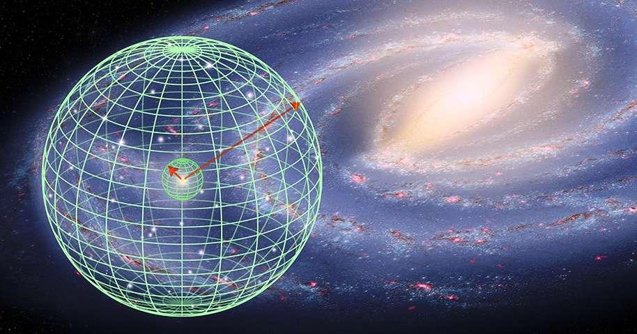 Une illustration d'artiste du bond que vient de faire la méthode de la parallaxe grâce à Hubble. Introduite en astronomie par Hipparque il y a plus de 2.000 ans, elle permet d'estimer la distance des astres dans le Système solaire et dans la Voie lactée. © Nasa, Esa, A. Feild