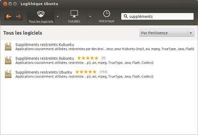 Selon votre distribution (Windows, Ubuntu), choisissez le paquet contenant les suppléments correspondant à votre configuration. Il est fortement recommandé de n'installer qu'un paquet de suppléments propriétaires à la fois, sous peine de conflits. © Guénaël Pépin