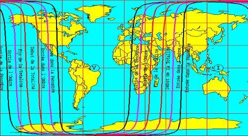 Éclipse totale de Lune visible sur une bonne partie du Globe