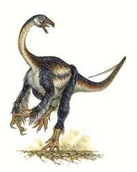 © Mike SkrepnickFalcarius utahensis, un étrange dinosaure...
