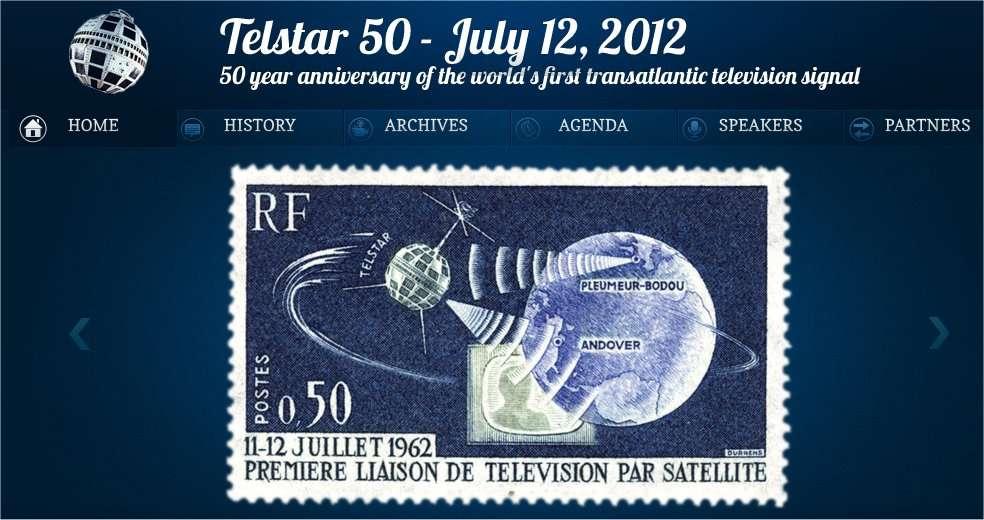 La page d'accueil du site fêtant le cinquantenaire de Telstar. © Telstar 50